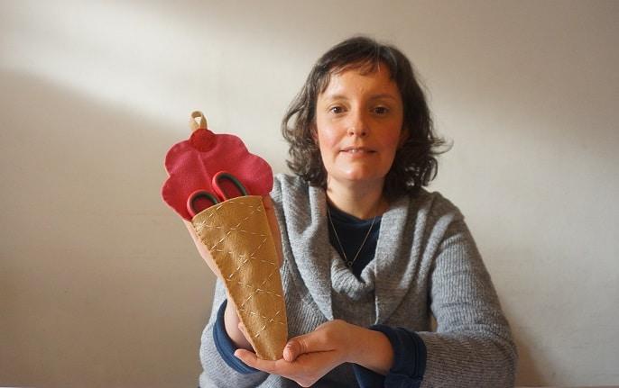 Aula De Costura Para Crianças:      Porta-Tesoura  De Sorvete